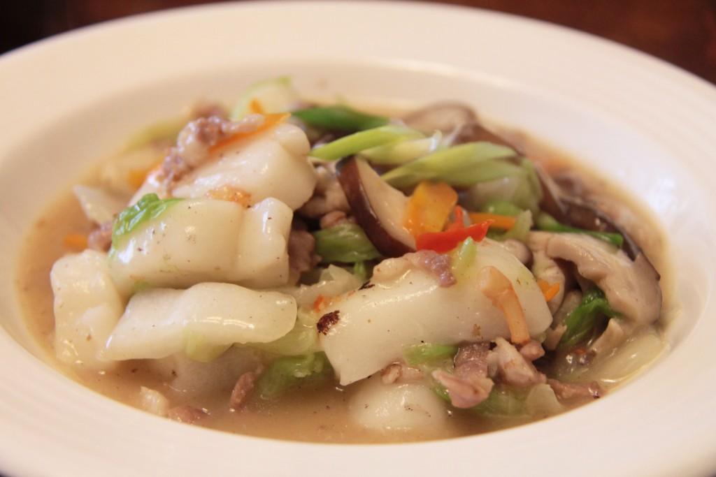 白菜肉絲煨年糕2